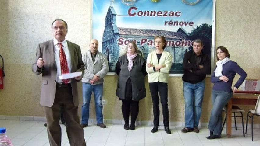 Voeux de François Waroux maire de Connezac