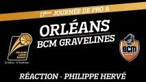 Réaction de Philippe Hervé - J17 - Orléans reçoit le BCM Gravelines