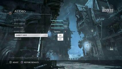 Customisation options menu explored, hardcore  de Thief