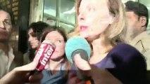 Une foule de journaliste acueille Valérie Trierweiler à Bombay