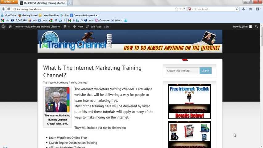The Internet Marketing Training Channel – How To Add A Search Bar To Your Website