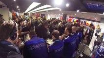 Luka Karabatic se livre lors du retour des Experts à Paris après le titre de champion d'Europe