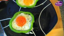 Cuisine - Comment cuisiner des œufs au plat dans une robe de poivron - Plat