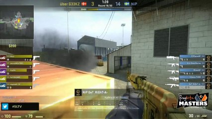 NiP vs. Uber G33KZ, FragBite Masters 2013, map 2 nuke