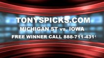 Iowa Hawkeyes vs. Michigan St Spartans Pick Prediction NCAA College Basketball Odds Preview 1-28-2014