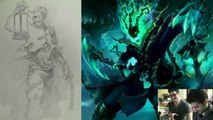 My Friend Drawing Champions He Has Never Seen - Ep 9 Thresh - League of Legends