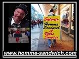 5-homme sandwich val de marne, street marketing Vincennes 94