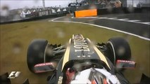 Kimi Räikkönen coincé sur l'ancien circuit d'Interlagos