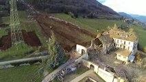 Impressionnants Dégâts causés par une chute de roches en Italie