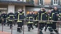 Grève pour les pompiers professionnels (Annecy)