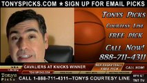 New York Knicks vs. Cleveland Cavaliers Pick Prediction NBA Pro Basketball Odds Preview 1-30-2014