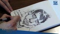 Richard Guérineau dessine son roi Charly 9 en accéléré