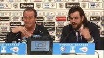 ▶ Συνέντευξη Τύπου ΠΑΟΚ Vs Απόλλων Σμύρνης - PAOK TV