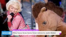 Miley Cyrus Gives Some Great Advice To Justin Bieber