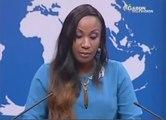 Gabon - Lapsus dune journaliste qui prononce Valérie Rottweiler, au lieu de Trierweiler