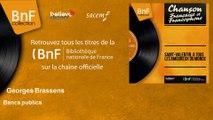 Georges Brassens - Bancs publics
