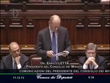 Roma - Fiducia al Governo, Enrico Letta interviene alla Camera (11.12.13)
