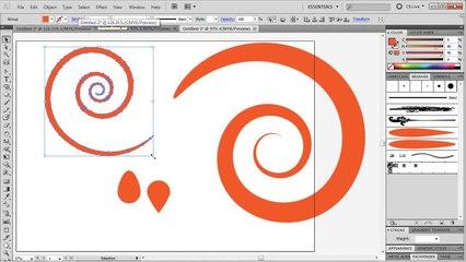 Illustrator: Easy Swirls and Spirals - Tutorial