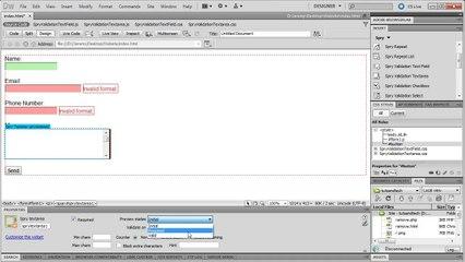 Dreamweaver: Spry Form Validation - Tutorial
