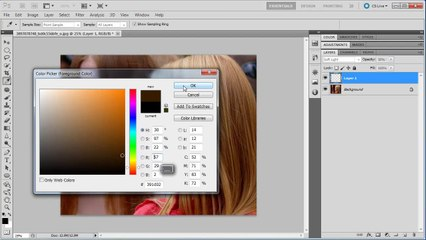 Photoshop: Adjust and Change Hair Color - Tutorial