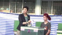 PM Yingluck Shinawatra votes in Thai election