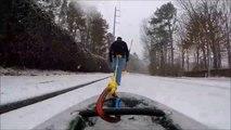 Kayaking Through the Snow