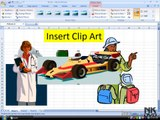 Lesson 48 The Insert Picture Clipart Microsoft Office Excel 2007 2010 free Educational video Training Tutorials in Urdu Hindi language