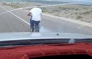 Crash : A BMX pulled at 80 kmh