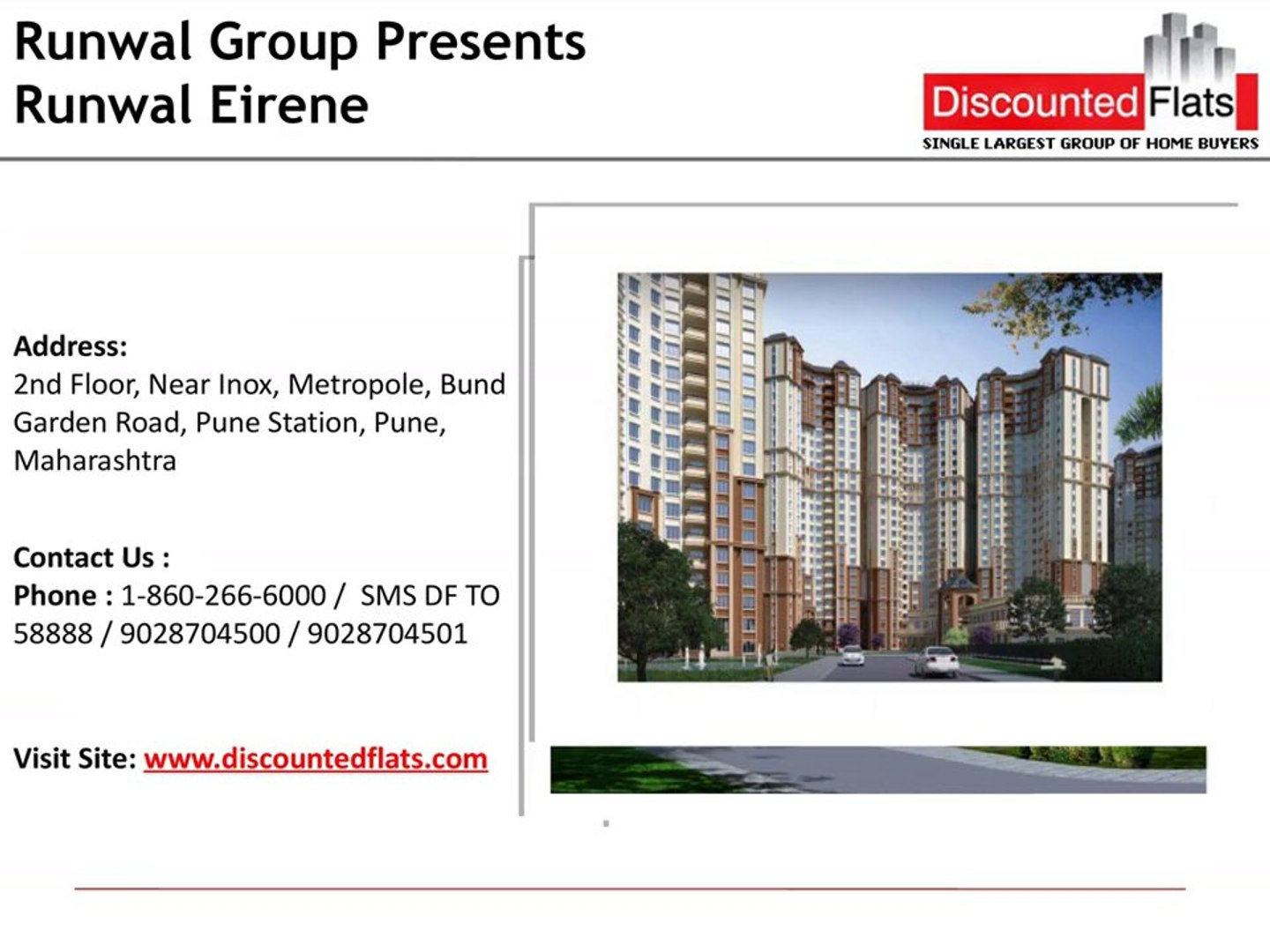Runwal Eirene – a pre launch project by Runwal group located at Thane West