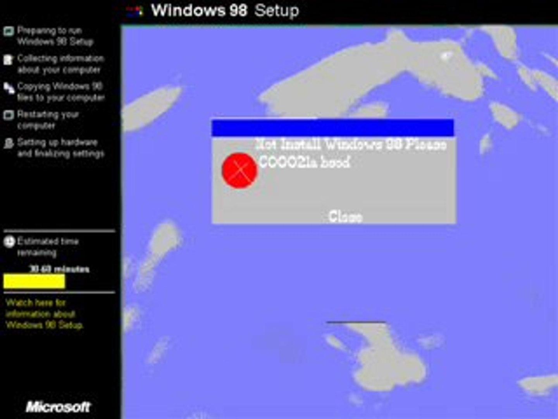 Windows 98 Setup Parody
