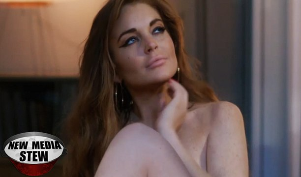 LINDSAY LOHAN STRIPS TOPLESS & FILMS SEX TAPE in 'THE CANYONS' Trailer