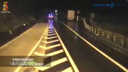 Contromano sull'autostrada, fermato dalla stradale