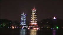 Renowned and Popular Tourist Guilin City is So Beautiful at Night.  China Tours