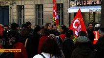 Manifestation des inspecteurs du travail devant l'Assemblée