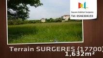 A vendre - Terrain - SURGERES (17700) - 1 632m²