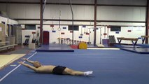 ABS/CORE EXERCISES ON FLOOR - Seat Scoots, Tuck/Straddle/Pike-Ups, Hollow Rocks (Gymnastics Fitness)