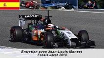 Entretien avec Jean-Louis Moncet sur les essais F1 de Jerez 2014
