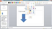 Lesson 10.12 Inserting Text Into a Shape - MS PowerPoint by Microsoft Office Power Point 2010  free online video Training Tutorials Urdu and Hindi language