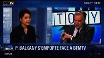BFM Story: Patrick Balkany: le député et maire sortant UMP de Levallois-Perret s'emporte face à la caméra de BFMTV - 04/02