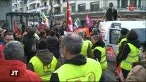 Manifestation des inspecteurs du travail à Annecy