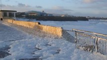 Storm Whips Up Masses of Sea Foam in Irish Town