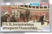 Zap télé: Prise d'otage (fictive) à l'Assemblée, Mélenchon a mal choisi son camp