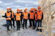 Visite pédagogique sur le chantier du collège de Traînou
