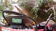 Honda And Yamaha Offroading In Snow - Go Pro HD Hero 2