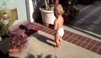 Bébés trop mignons qui jouent avec leurs ombres!