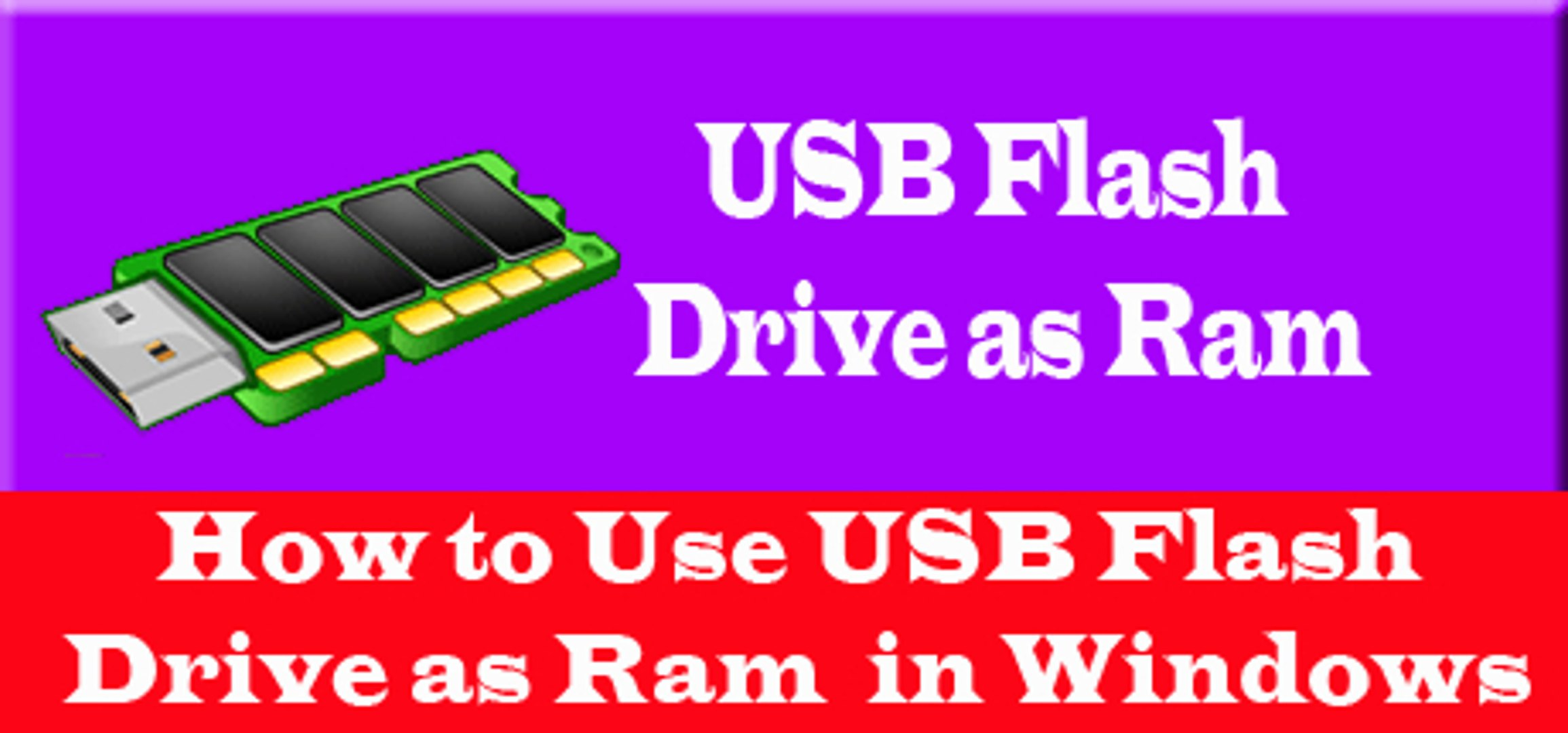How To Use Usb Flash Drive As Ram In Windows Vidhippo Com Video Dailymotion