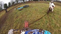 GoPro 3  Bashing Bars At Warden Hill Grizzly Motocross Enduro Track