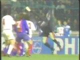 1995 (April 5) Paris St Germain (France)  0-AC Milan (Italy) 1 (Champions League)-semifinals, first leg