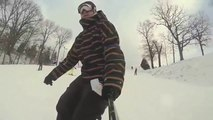 Slow Motion Skiing Wipeout