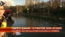 Bretagne : tempête d'écumes, vagues géantes, inondations...
